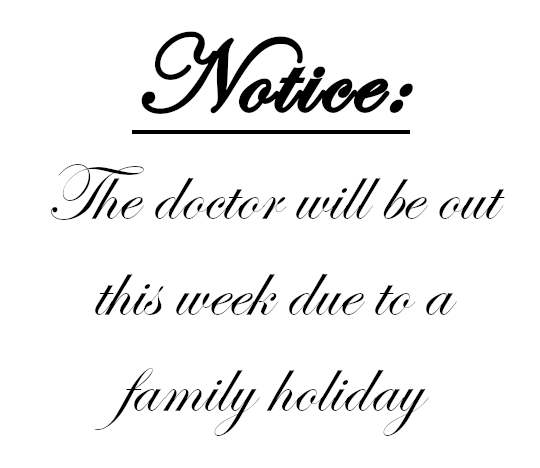 Family Holiday Notice